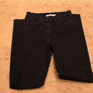 Black Levi's Mile High Super Skinny Jeans